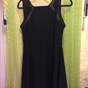 Black dress w/ sheer illusion (sheer) straps